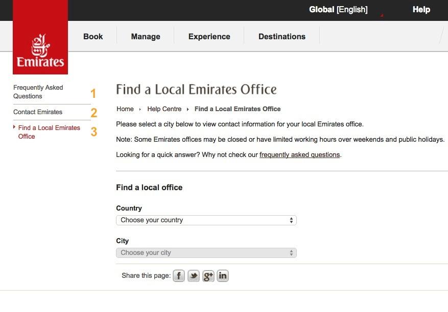 Emirates Help