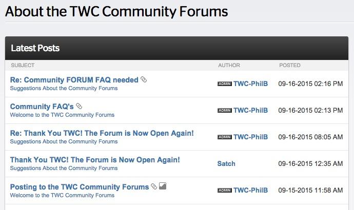 Time Warner Cable Online Forum