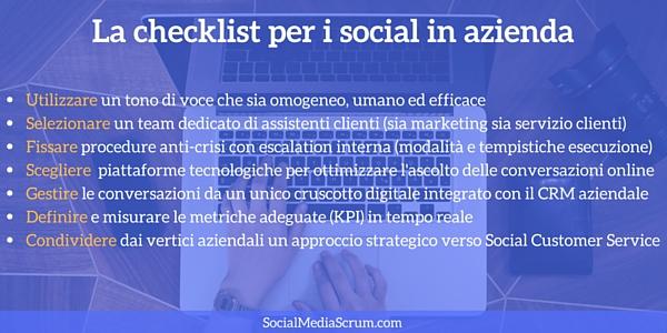 Checklist social azienda